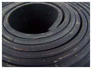 CLOTH INSERTION RUBBER SKIRTBOARD